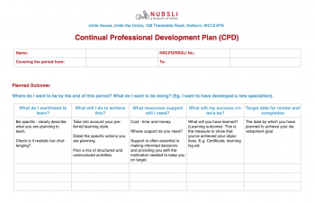 CPD template