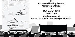 Action on Hearing Loss protest details
