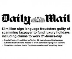 image of daily mail headline