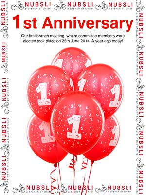 NUBSLI first anniversary poster